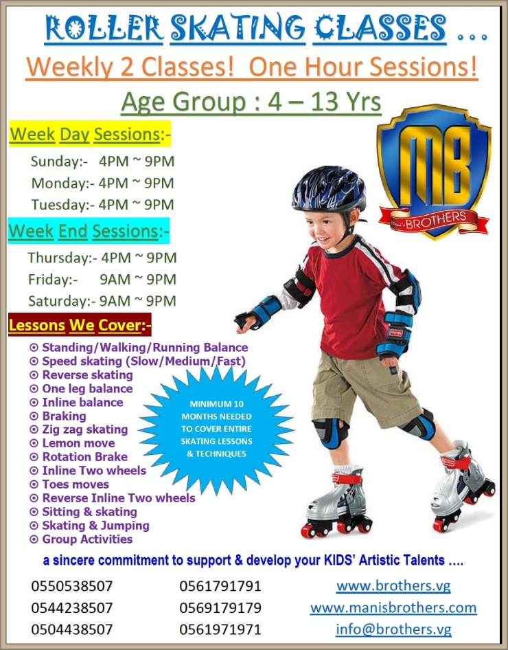 23- ROLLER SKATING CLASSES + ADMISSIONS ARE OPEN NOW