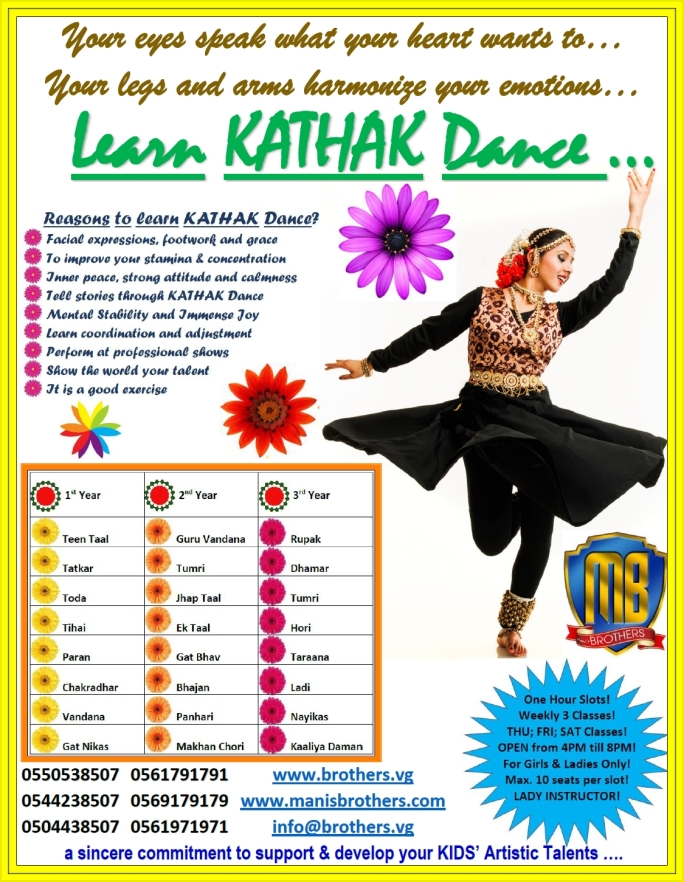 27- KATHAK CLASSES + FOR KIDS & LADIES ONLY