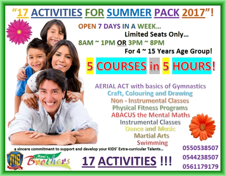 54-B- SUMMER PACK 2017 - ADMISSIONS ARE OPEN