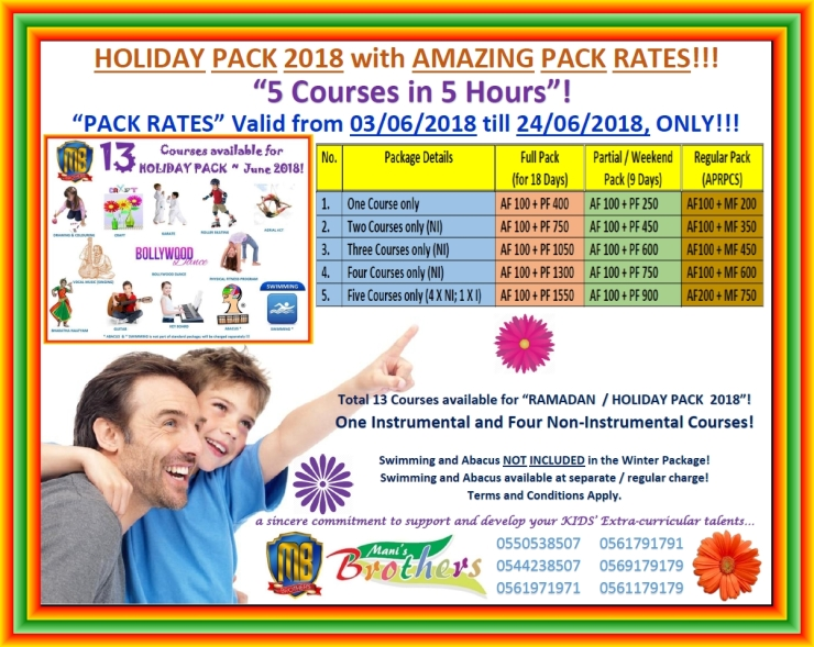 60 R ~ PRICINGS FOR RAMADAN ~ HOLIDAY PACK 2018