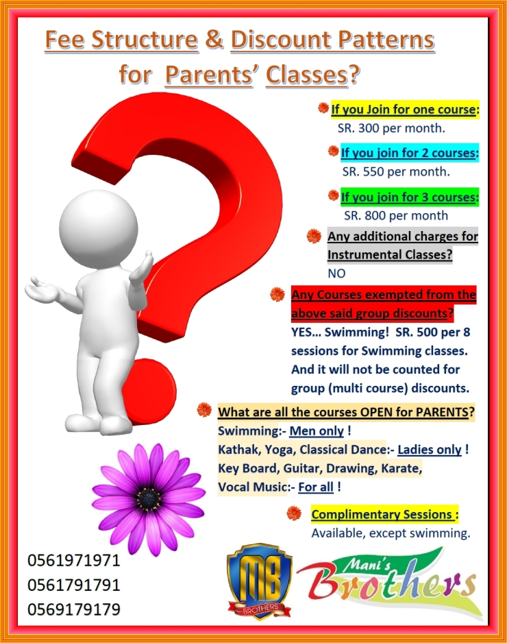 8A~ FEE & DISCOUNT PATTERNS FOR PARENTS CLASSES