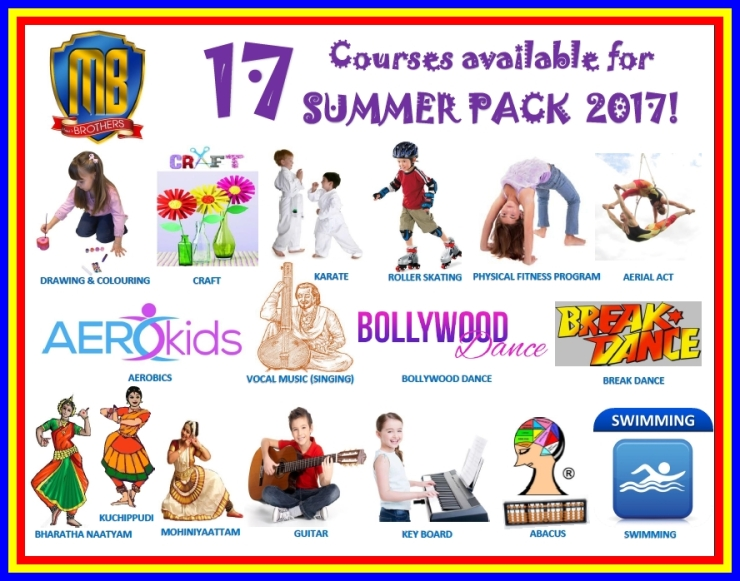 SUMMER PACK 2017'S AVAILABLE COURSES