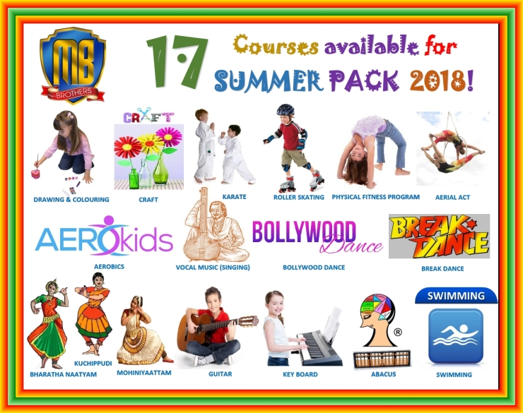 1~ COURSES AVAILABLE FOR SUMMER PACK 2018
