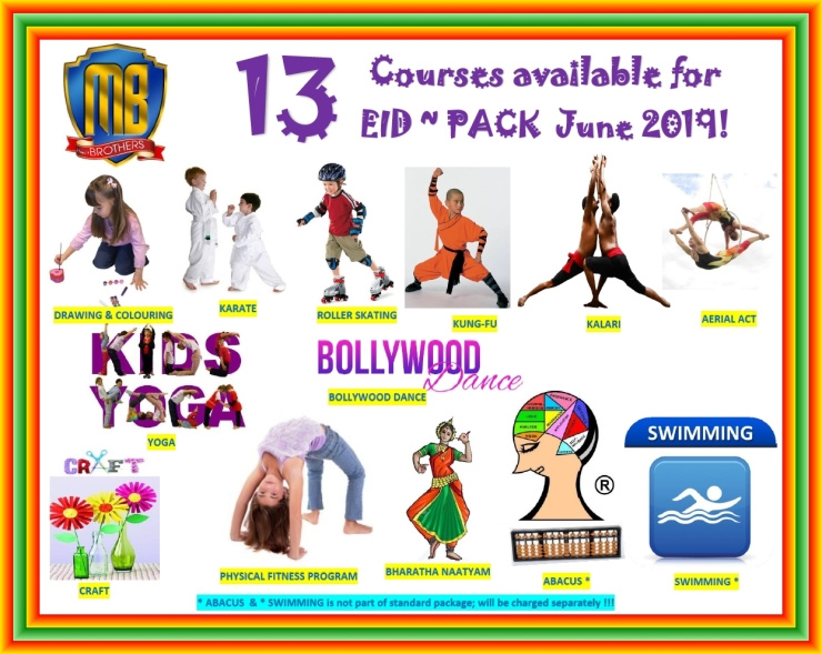 66 ~ 2019 COURSES AVAILABLE FOR EID PACK MAY ~ JUNE 2019