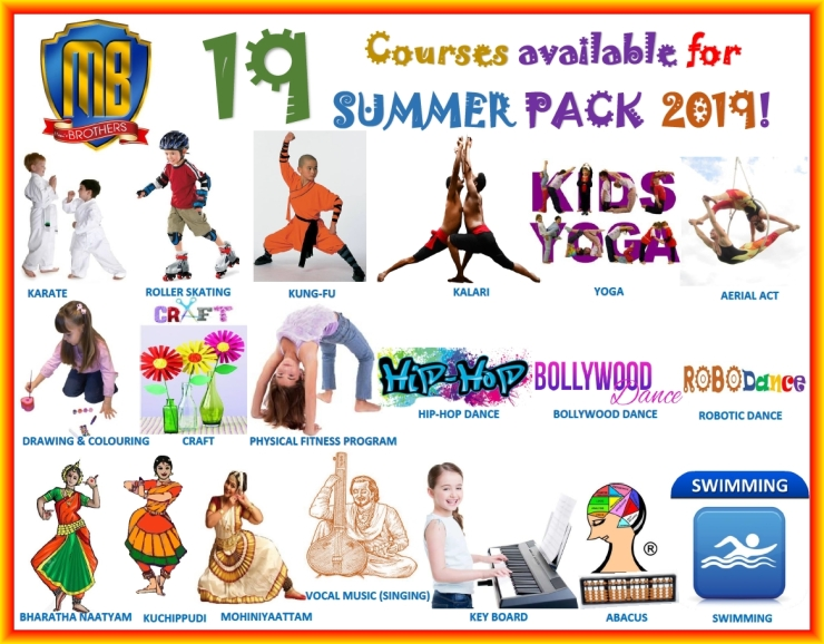 A ~ COURSES FOR SUMMER PACK 2019