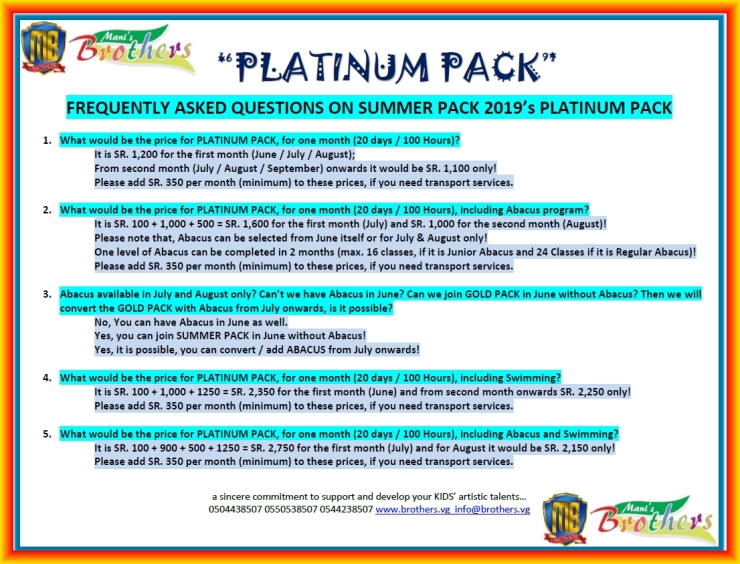 E ~ PLATINUM PACK ~ SUMMER PACK 2019
